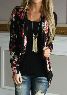 Like the floral print on this cardigan -  perhaps something more subtle?
