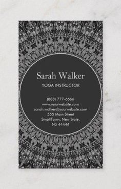 Shop Monochrome Magic Mandala Garden Business Card created by ZyddArt. Art Business Cards, Elegant Business Cards, Business Card Design, Print Templates, Card Templates, Print Design, Graphic Design, Monochrome, Mandala