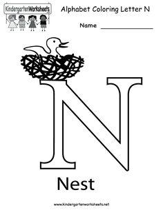 Kindergarten Color By Number Worksheet Printable