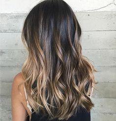 Sunkissed balayage, dark brown hair color #balayagehair #balayagehighlights #brownhair