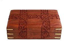 Get Fine Polished Wooden Keepsake Jewelry Box (8 * 5) Velvet Interiors Christmas Holiday Gift Ideas at Joyful Crown Available at joyfulcrown.com