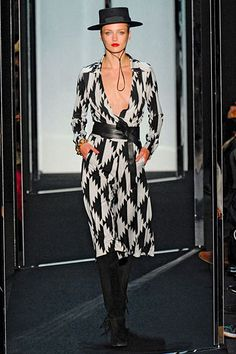 DVF wrap dress and boots