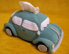 Heres a chance to crochet your very own groovy Volkswagen (inspired) Camper Van Transporter Bus tissue box cover ! This PDF CROCHET PATTERN will guide you to crochet a tissue box cover as shown in picture, made using soft acrylic yarn (DK / 8 ply) and crochet hook E (3.5 mm). The cover fits over 2 standard rectangular tissue boxes, stacked on top of each other. This way you'll always have 1 spare tissue box on hand ! The cover can also be made using wool or cotton yarn, as long as you can…