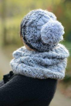 blac grey womens beanie hat knit pom pom winter hats by bandabag