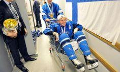 Artturi Lehkonen after Finland won gold in U20 championships. Love those kids!