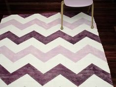 DIY chevron rug!! projects