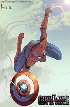 CIVIL WAR SPIDERMAN by KUZANAGI009.deviantart.com on @DeviantArt