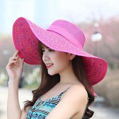 1d235b5feb6 Women s New Summer Wide Brim Bucket Hat Vacation Cute Cap Round Top Bow Sunshade  Hat