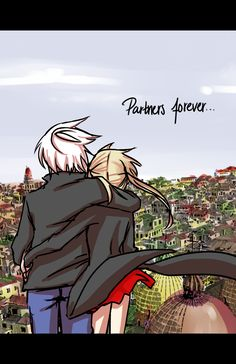 Soul Eater // Soul x Maka Partners forever. I was hoping that Ohkubo would draw something like this or that they hold hands in the end; Soma Soul Eater, Soul Eater Evans, Baka To Test, Anime Soul, Anime Life, Soul And Maka, Levi X Eren, Anime Ships, Me Me Me Anime