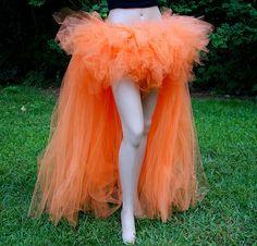 Orange Neon Trashy Formal Bustle TuTu by MTcoffinzUnderground, $110.00