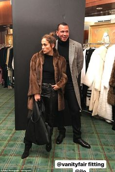 They are featured on the cover of Vanity Fair& December issue. And on Tuesday, Alex Rodriguez shared behind the scenes photos from his shoot with his girlfriend Jennifer Lopez. Jennifer Lopez, J Lo Fashion, Autumn Fashion, Fashion Outfits, Alex Rodriguez, Turtleneck Outfit, Black Turtleneck, Celebrity Couples, Celebrity Style