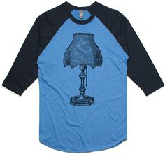 theIndie Antique Royal Lamp (Black) 3/4-Sleeve Raglan Baseball T-Shirt
