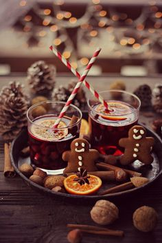 Xmas recipe: Mulled Wine  Made with: red wine (Merlot), brandy, unsweetened apple cider, honey, cinnamon sticks, vanilla bean, cloves, star anise, and chopped citrus (variety). by katerinatina
