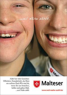 MALTESER HILFSDIENST PLAKAT 02 Malteser, Openness, Friendship, First Aid Only, Poster, Face