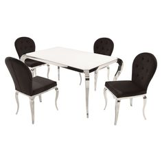 el dorado furniture : hollywood swank 5-piece formal dining set