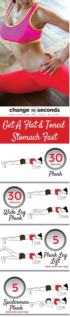 How To  Get A Flat And Toned Stomach Fast