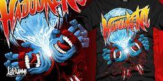 """""""Hadouken!"""" t-shirt design by LaFlamme"""