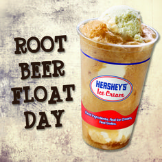 Cool down today with a Hershey's® Root Beer Float! #NationalRootBeerFloatDay #HersheysIceCream