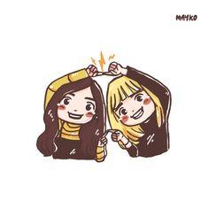 ⚡️⚡️⚡️⚡️#lisa #jisoo #blackpink #fanartblackpink #fanart #mayko