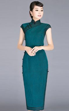 2013 retro classic Silk Silk long section of the new high-end traditional cheongsam