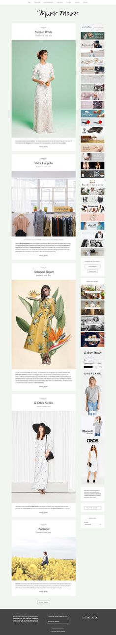 Blog Design | Web Design Check out Miss Moss, a gorgeous lifestyle blog running on Station Seven's Kindred theme. #webdesign #wordpress