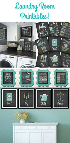 How amazing are these laundry room printables? I definitely need them! (Affiliate)