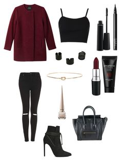 """""""Untitled"""" by taif65 ❤ liked on Polyvore featuring Monki, Topshop, Ariel Gordon, NARS Cosmetics, MAC Cosmetics, Smashbox, Christian Louboutin, Yves Saint Laurent and CÉLINE"""