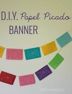 Easy DIY Papel Picado Banner