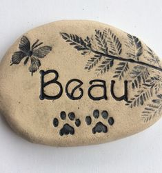 Excited to share the latest addition to my shop: Memorial stone, Custom sympathy gift Remembrance gift. Pet Memorial Stones, Dog Memorial, Remembrance Gifts, Cat Dog, Garden Markers, Sympathy Gifts, Butterfly Design, Pet Names, Pet Memorials