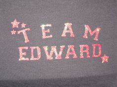 How to make a Team Edward t-shirt (but what's freezer paper?)