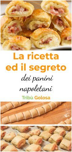 I #panininapoletani sono un goloso #stuzzichino salato tipico della tradizione napoletana. Ripieni di uova sode, salumi e formaggio, conquistano tutti. Perfetti da presentare ad un #aperitivo , vanno assolutamente provati. A #napoli si trovano in ogni panificio e rosticceria, e rappresentano uno di quei piatti irrinunciabili della  #cucinanapoletana   #tribugolosa #gourmettribe #golosiditalia #cucina #cucinaitaliana #cucinare #italianrecipes #food #italianfood #foodstyling #yummy Bread Recipes, Cooking Recipes, A Food, Food And Drink, Party Finger Foods, Sandwiches, Antipasto, Biscotti, Food Dishes