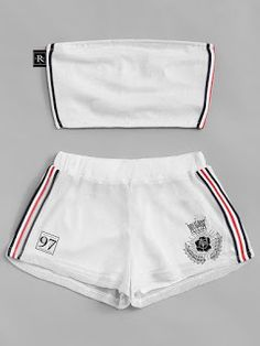 40+ very nice Shorts two piece set - Fashion and Travel Blogger Cute Lazy Outfits, Crop Top Outfits, Sporty Outfits, Teen Fashion Outfits, Outfits For Teens, Trendy Outfits, Cool Outfits, Set Fashion, Cute Sleepwear