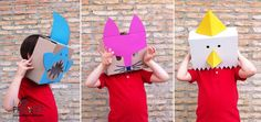 Recicla tus cajas del KIT idoproyect: máscaras para niños #capgrossos #cartró #cardboard