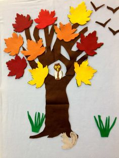 Johnny Maple-Leaf Flannel Board for Fall Storytime