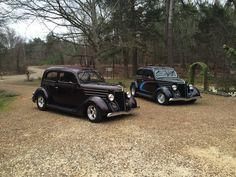 A pair of 1936 Ford Tudor Sedans