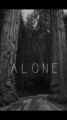Imagem de alone, sad, and black and white