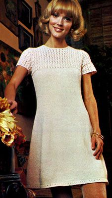 Awesome Vintage clothing patterns. Martinique Dress | Free Knitting Patterns--This would be so cute on Lisa