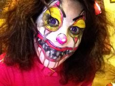 halloween 2011 Chelsea Blancett Grube Scary clown makeup