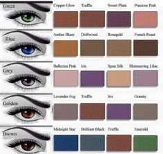 Mineral eyeshadows that compliment your eye color. https://www.Marykay.