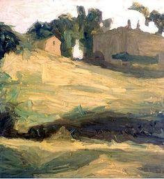 giorgio morandi - paesaggio n. 3, oil on canvas. (pinacoteca di brera)