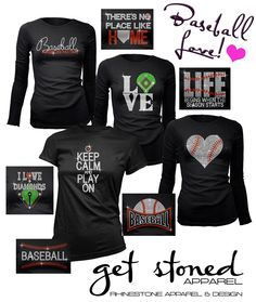 These are just the coolest, sparkly and best Baseball shirts ever! Great company to work with too! Not just baseball - but everything you can imagine. Love them!