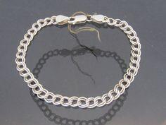 Vintage Italian Sterling Silver Link Chain by wandajewelry2013