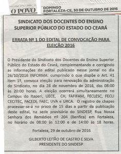 PISO SALARIAL AGORA JÁ É REALIDADE!!!  EXECUÇÃO NOS TERMOS DEFINIDOS PELO STF: PUBLICADA ERRATA DE EDITAL DE CONVOCAÇÃO DE ELEIÇÃ...