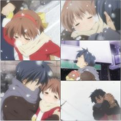 It's hard to think that ushio had to die... and Nagisa. They left tomoya with no family. His wife gone and just when he started to bind with his daughter she gets as sick as Nagisa and dies also. Why ;_;