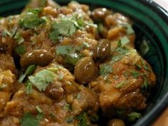 Chicken Tagine with Olives and Citron Confit : Recipes : Cooking Channel