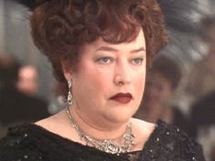 Kathy Bates as Denver legend Molly Brown in James Cameron's Titanic