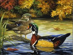 Linda Picken Art Studio / Wood Ducks Wraparound Design 1.jpg