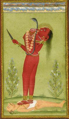 The Goddess Chinnamasta, Pahari, Mankot, circa 1750 | Lot | Sotheby's