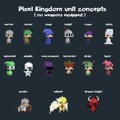 pixel kingdom art concepts!