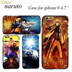 2015 Cute Stylish Anime Naruto Cartoon Cell Phone Case For Apple iPhone 6 4.7 inch Mobile Back Cover Capinha de Celular